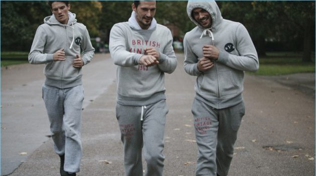 Models Danny Beauchamp, Sam Webb, and Jacey Elthalion work out in British Vintage Boxing's latest offering.