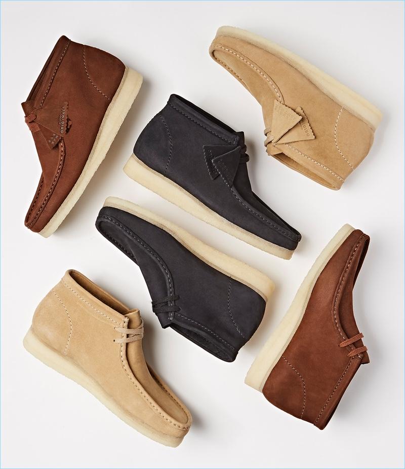 Barneys X Clarks Nubuck Wallabee Boots