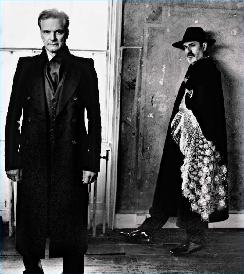 Going dandy, Colin Firth and Rupert Everett wear looks by Alexander McQueen.