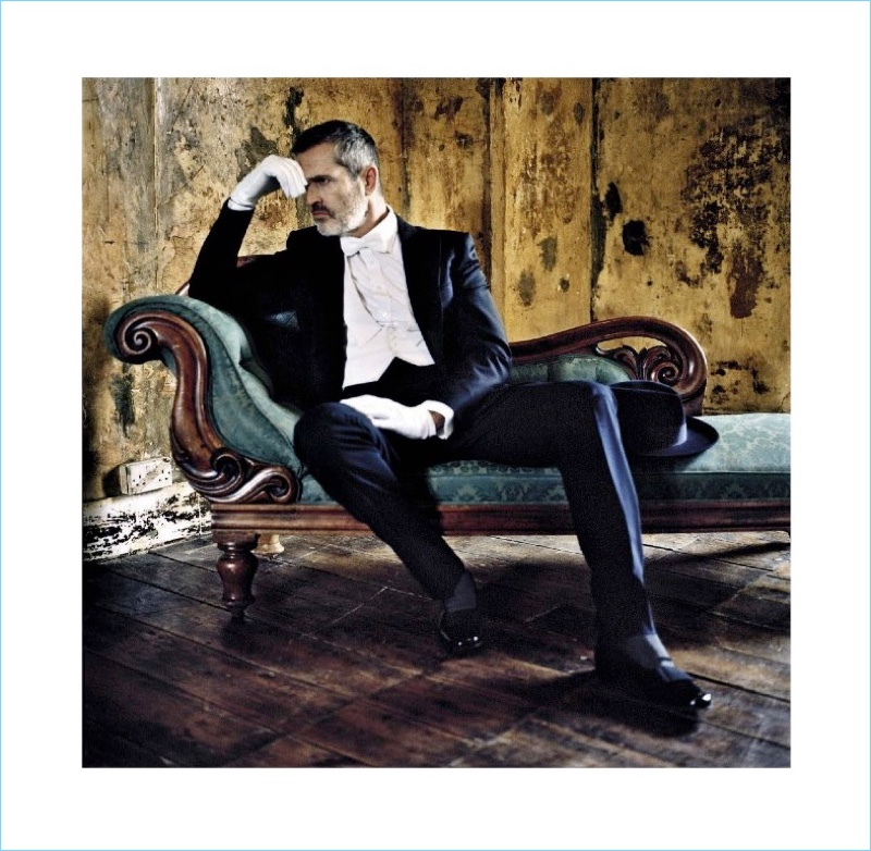 Rupert Everett dons a formal look by Lanvin with Church's dress shoes.