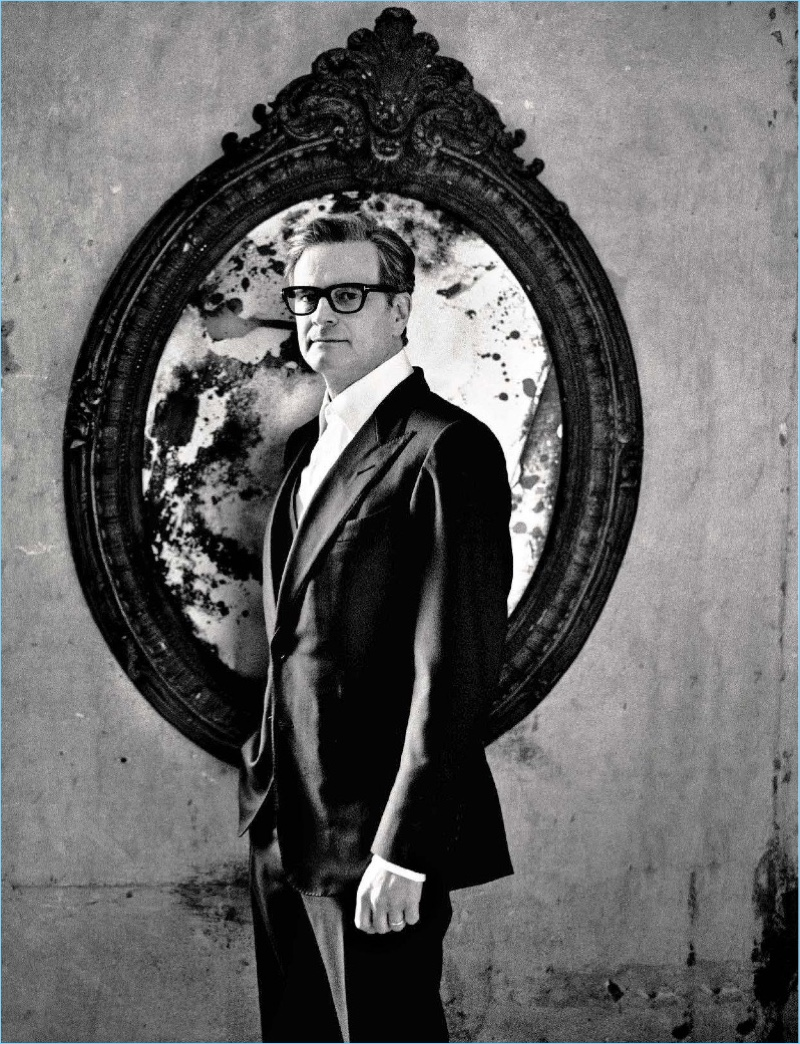 Colin Firth cleans up in a sharp Tom Ford suit.