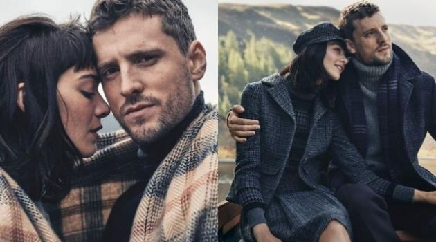 Daks enlists models Emma Appleton and George Barnett as the stars of its fall-winter 2017 campaign.
