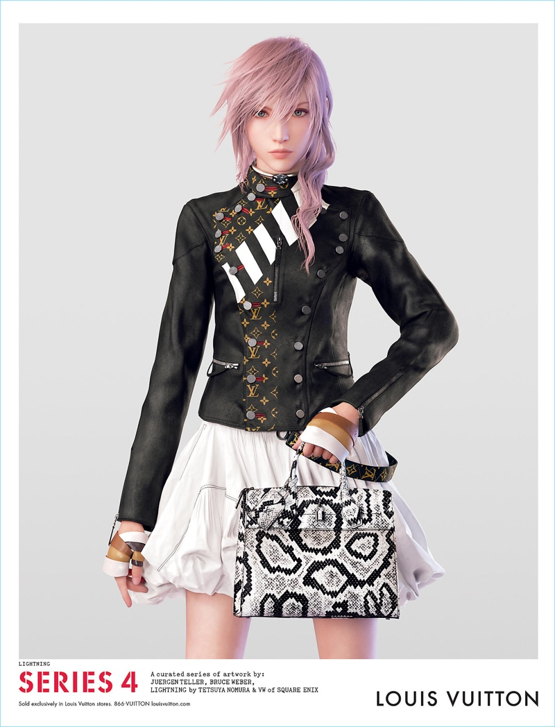 Final Fantasy's Lightning stars in a Louis Vuitton advertising campaign.