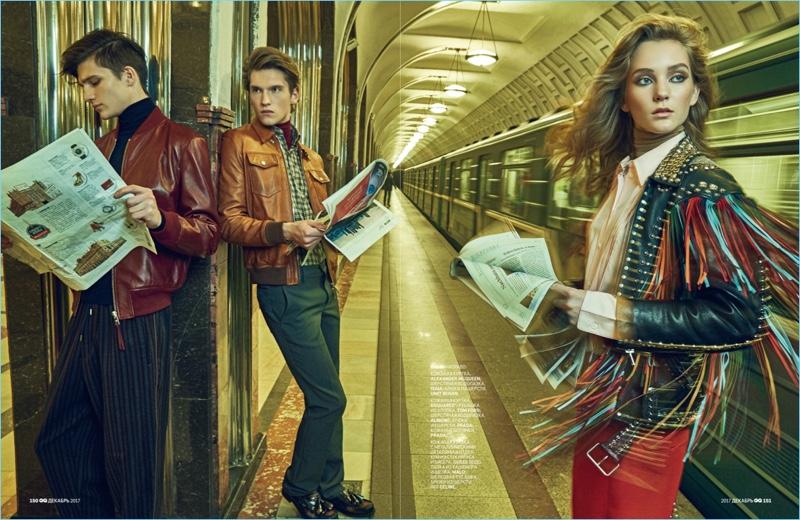 Max Steklyanov, Artem Popov & Damir Head Underground for GQ Russia