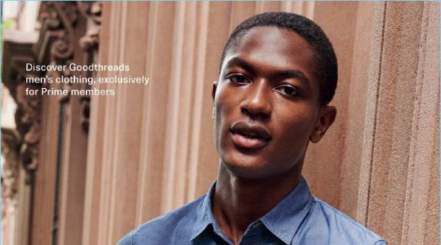 Hamid Onifade fronts Amazon Fashion's fall 2017 campaign.