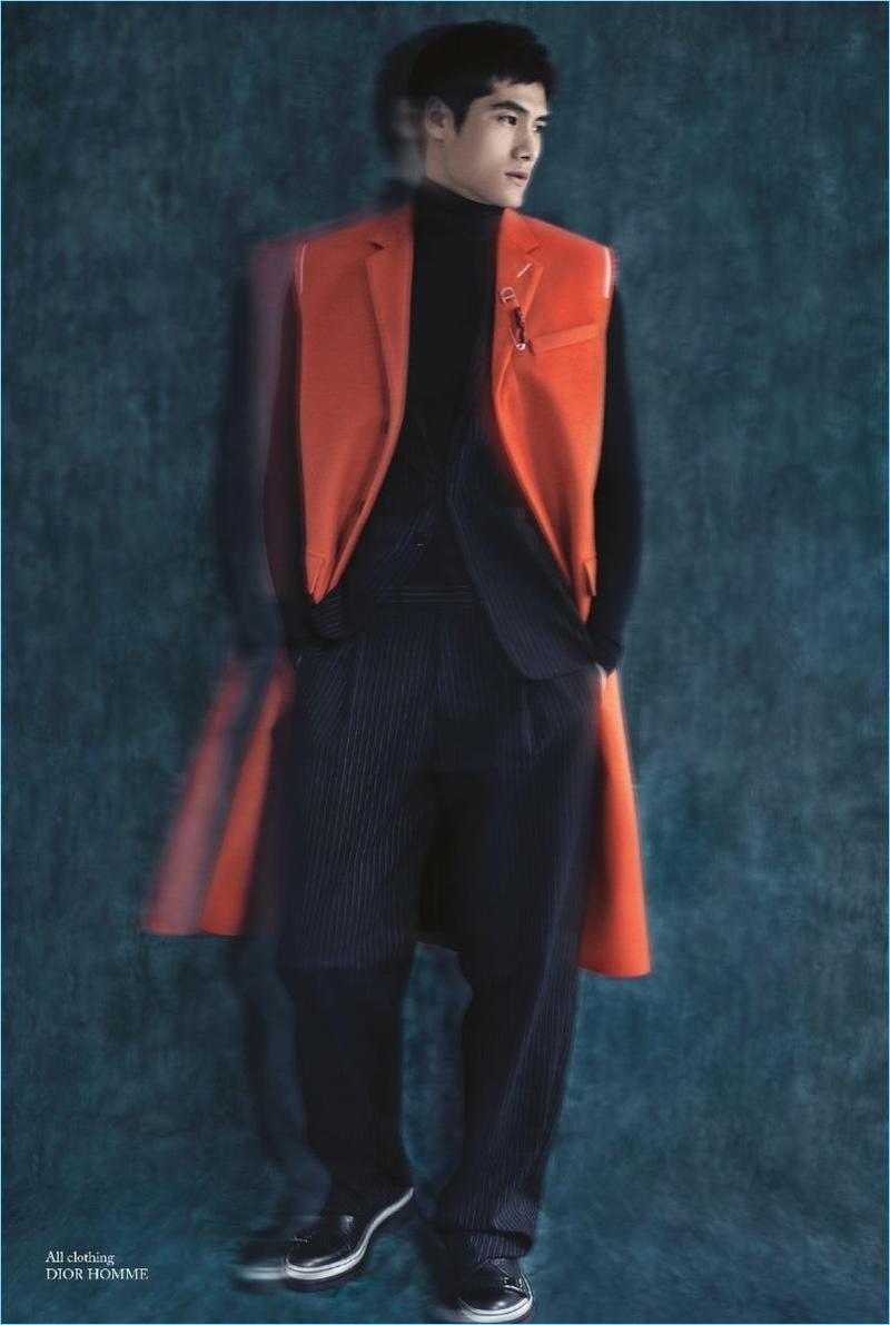 Hao Yun Xiang Dons Sharp Coats & Knits for Glass Men