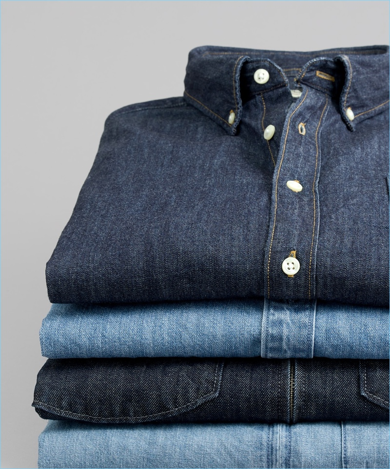 2. Denim Shirts: The denim workshirt stands out as a menswear classic and contributes to a smart everyday look.