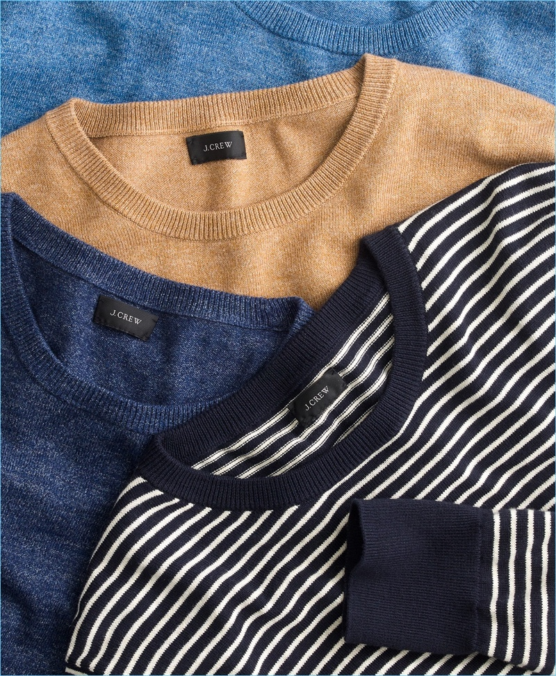 4. Smart Layering: Taking aim at the transition from winter to spring, J.Crew proposes layering with its sweaters.