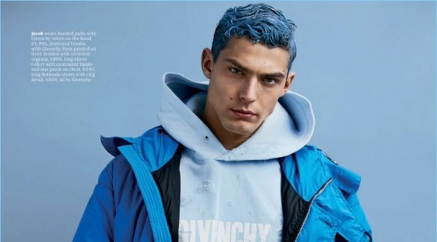 Glow: Jacob Hankin Rocks Colored Hair for Attitude Shoot