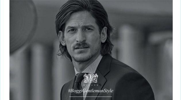 Australian model Jarrod Scott appears in Boggi's fall-winter 2017 campaign.