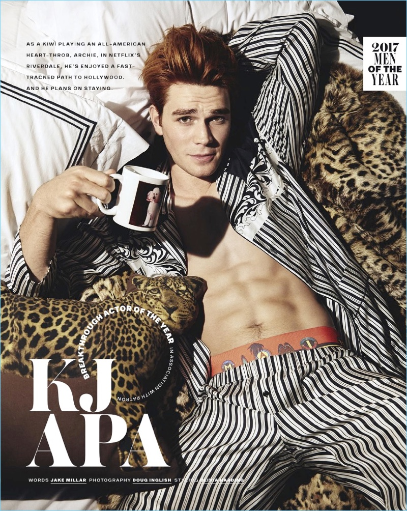 Kj Apa Gq Australia 2017 Photo Shoot Riverdale