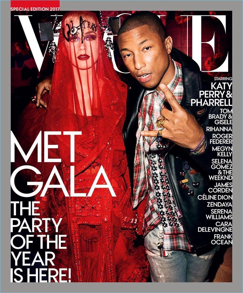 Katy Perry and Pharrell cover the 2017 Met Gala special issue of Vogue.