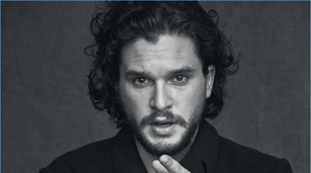 Game of Thrones star Kit Harington wears a Dolce & Gabbana coat.