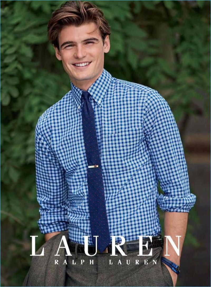 A preppy vision, Garrett Taber connects with Lauren by Ralph Lauren for fall-winter 2017.