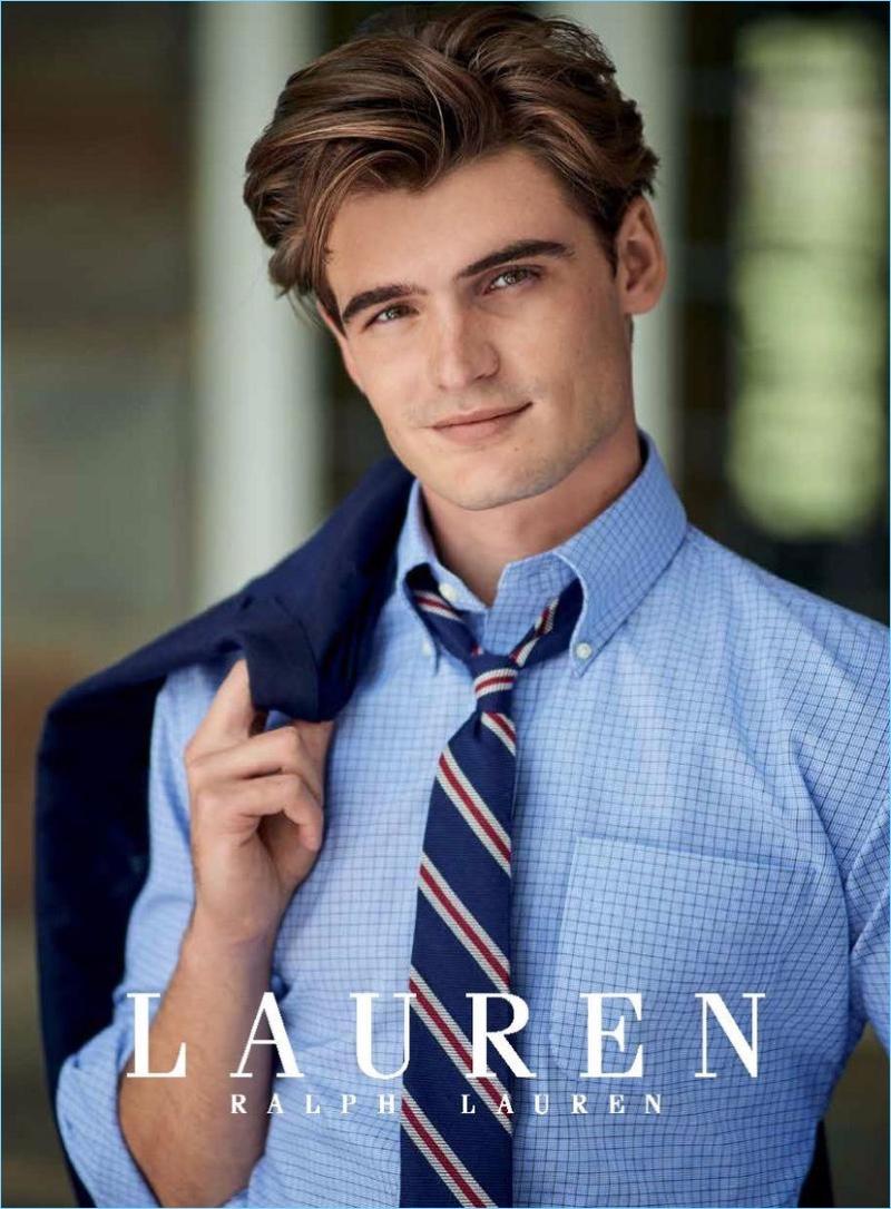 Lauren by Ralph Lauren enlists Garrett Taber as its face for fall-winter 2017.