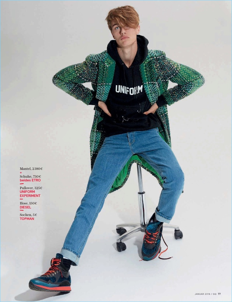 Lucky Blue Smith Taps Into Skater Boy Style for GQ Germany