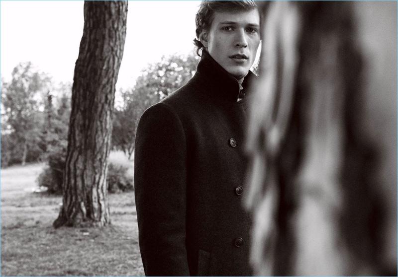 Approaching classic menswear, Sven de Vries wears Massimo Dutti.