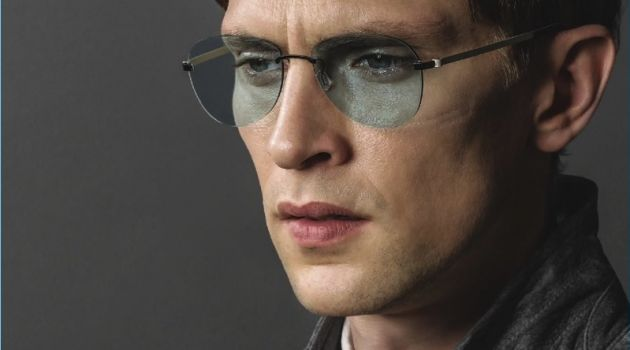 Mathias Lauridsen appears in Lindberg's fall-winter 2017 eyewear campaign.