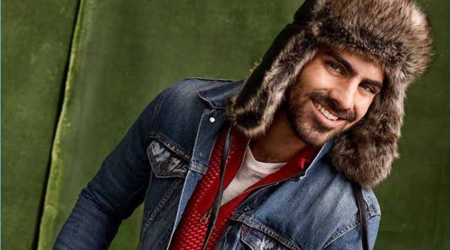 Nyle DiMarco Embraces Rugged Holiday Style for Simons