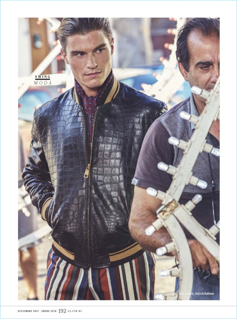 Oliver Cheshire Dons Dolce & Gabbana for GQ México