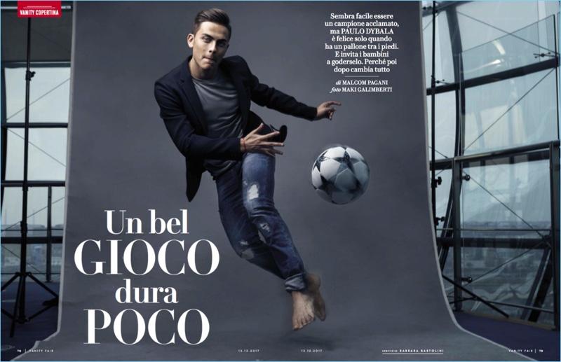 Footballer Paulo Dybala takes to the studio with Vanity Fair Italia.