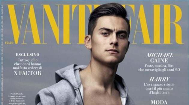 Paulo Dybala covers the December 2017 issue of Vanity Fair Italia.