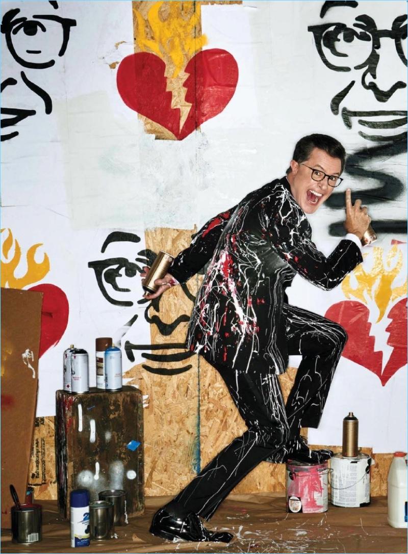 Mark Seliger photographs Stephen Colbert for GQ.