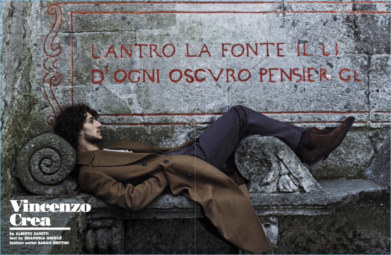 Vincenzo Crea Dons Sharp Fall Fashions for L'Uomo Vogue