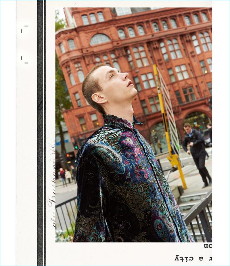 Model Yuri Pleskun rocks a Y/Project shirt.