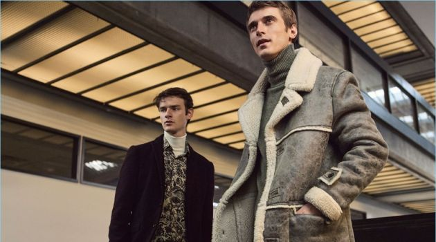 Models Douglas Neitzke and Clément Chabernaud come together for Zara Man's latest editorial.