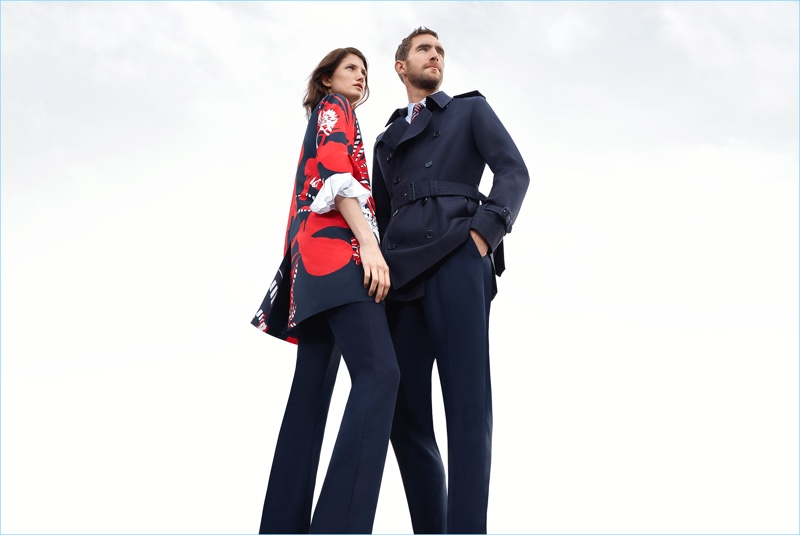 Aquascutum enlists models Mila Ganame and Will Chalker to star in its spring-summer 2018 campaign.
