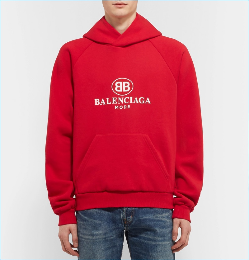 balenciaga t shirt mens red