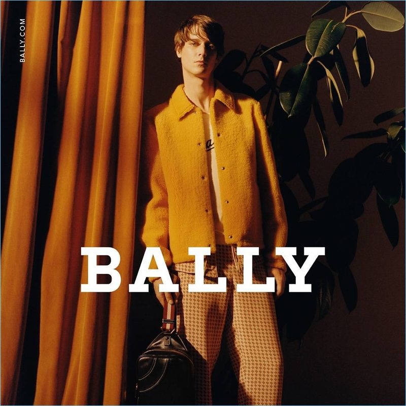 Marc-André Turgeon fronts Bally's spring-summer 2018 men's campaign.