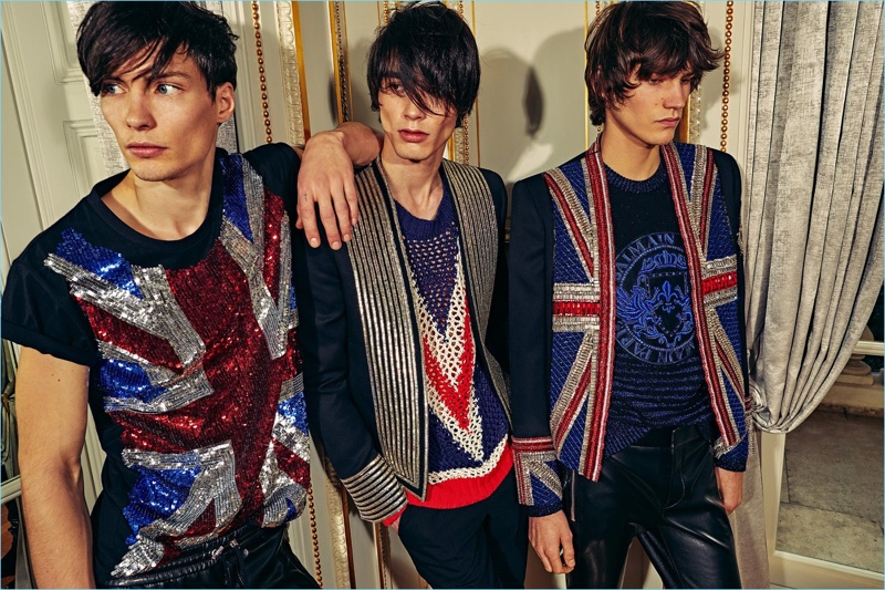 Balmain embraces a British style motif as part of its pre-fall 2018 collection.