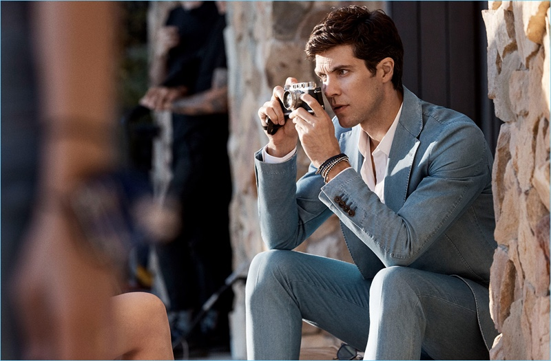 Ballet dancer Roberto Bolle  takes part in a shoot for Tod's spring-summer 2018 campaign.