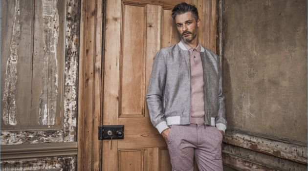 Ben Hill wears dusty hues for Matalan's spring-summer 2018 outing.