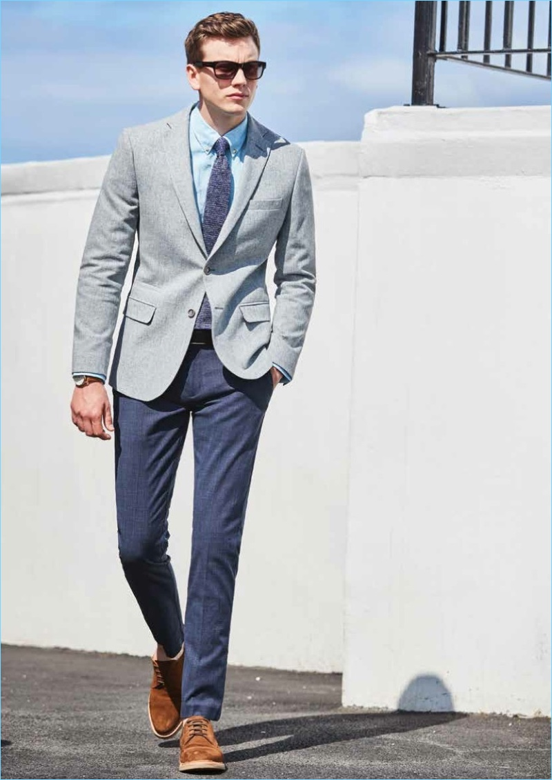 A sharp vision, Ben Sherman wears tailoring from Ben Sherman.