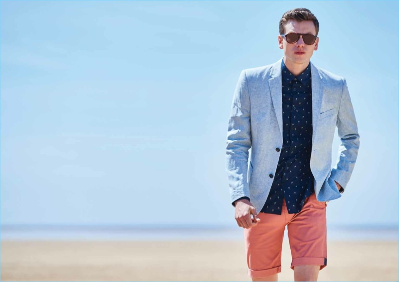Ben Sherman enlists Sid Ellisdon to star in its spring-summer 2018 lookbook.
