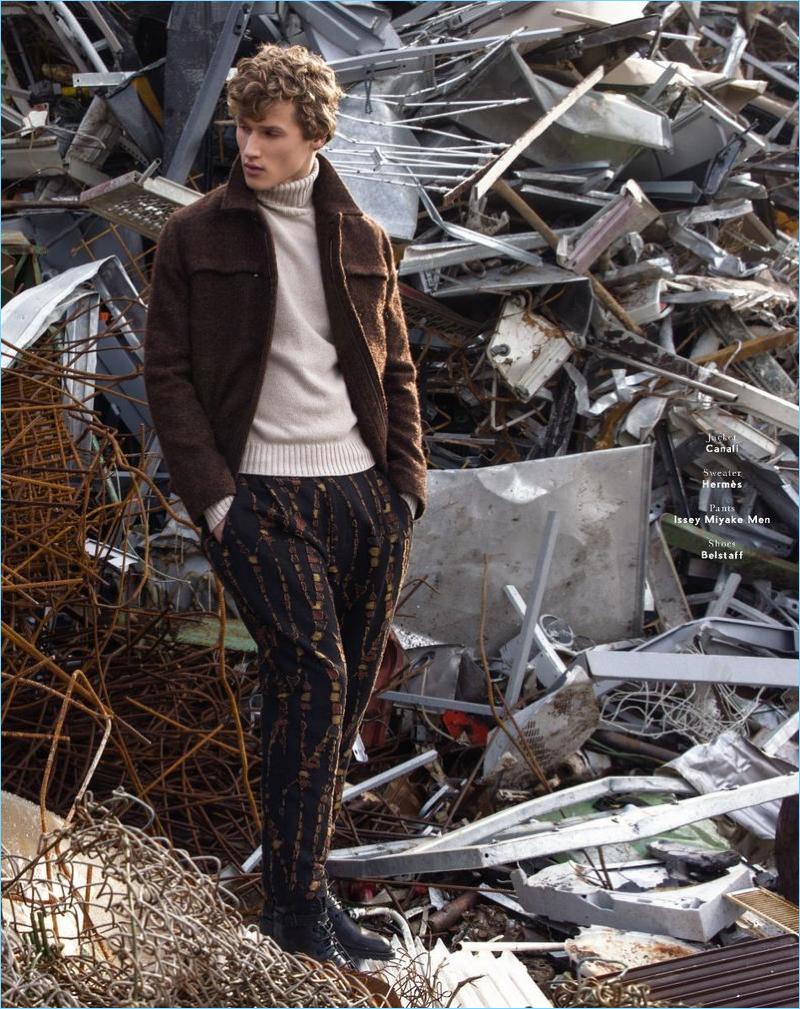 Hidden Treasures: Bram Valbracht Stars in Caleo Cover Shoot