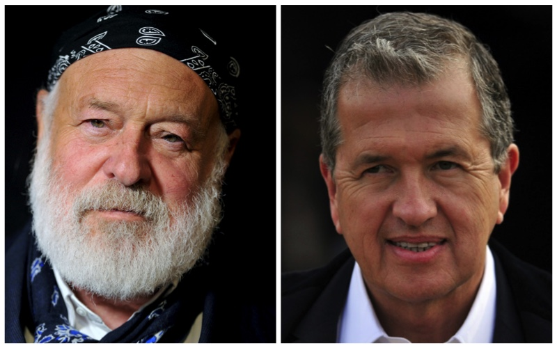 Pictured Left to Right: Bruce Weber and Mario Testino