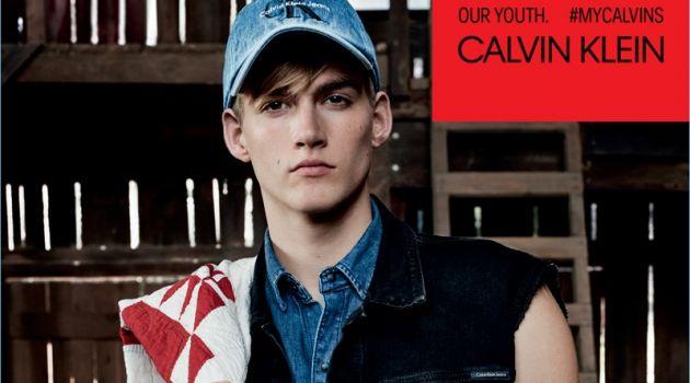 Presley Gerber fronts Calvin Klein Jeans' spring-summer 2018 campaign.