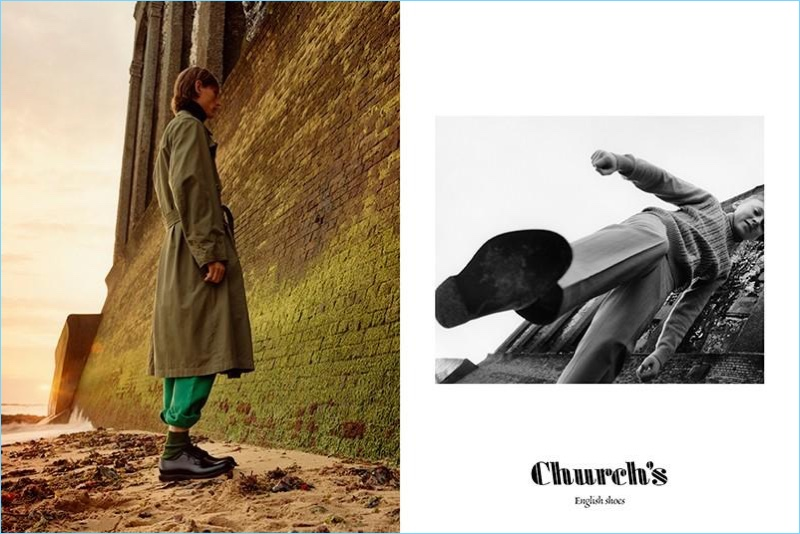 Church's enlists Rogier Bosschaart to front its spring-summer 2018 campaign.