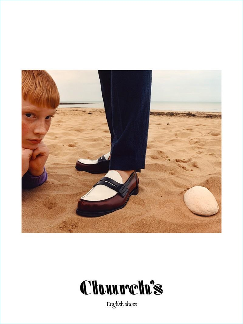 Taking to the beach for its spring-summer 2018 campaign, Church's features its loafers.