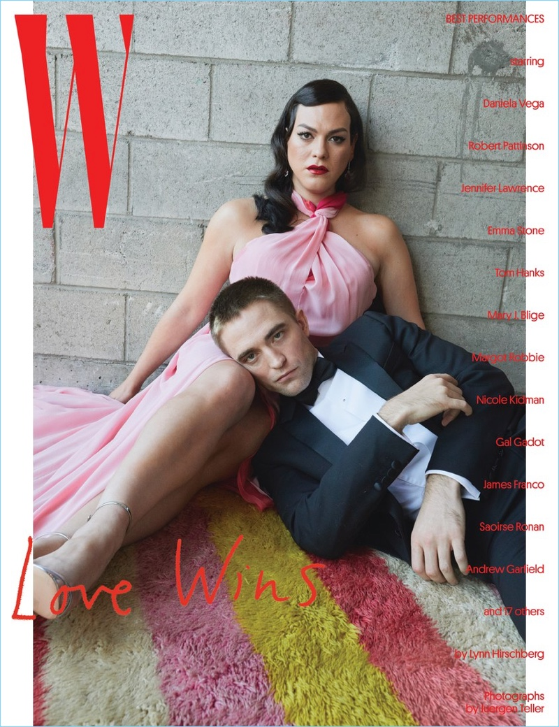 Daniela Vega and Robert Pattinson cover W magazine.