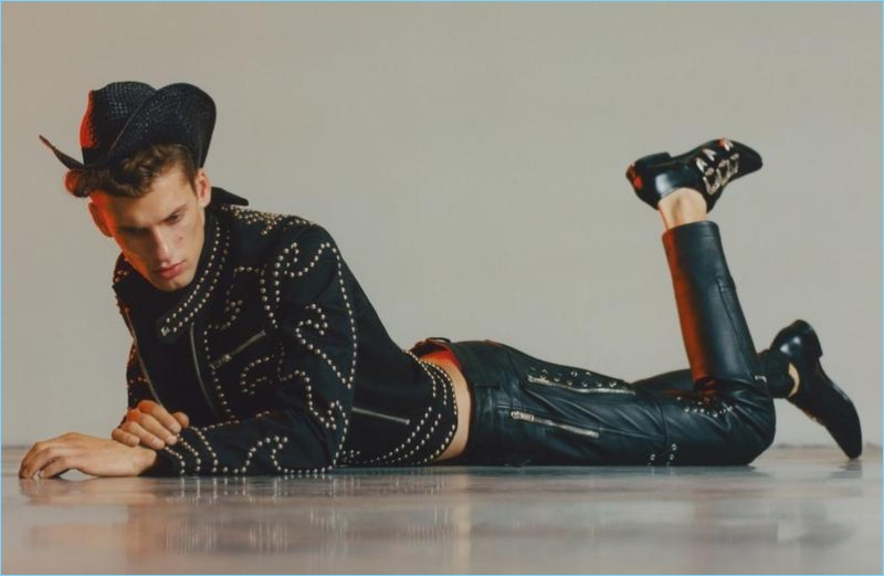 David Trulik is Clad in Leather for Man About Town