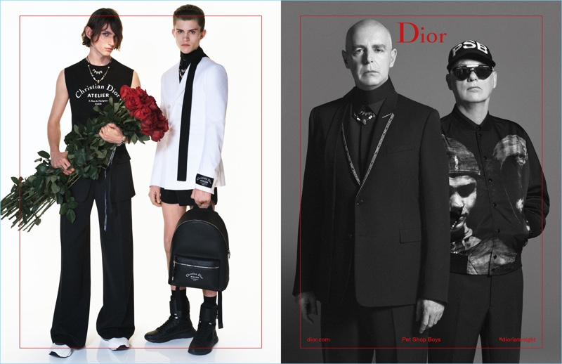 Henry Rausch, Andreas Wolf, and The Petshop Boys appear in Dior Homme's spring-summer 2018 campaign.