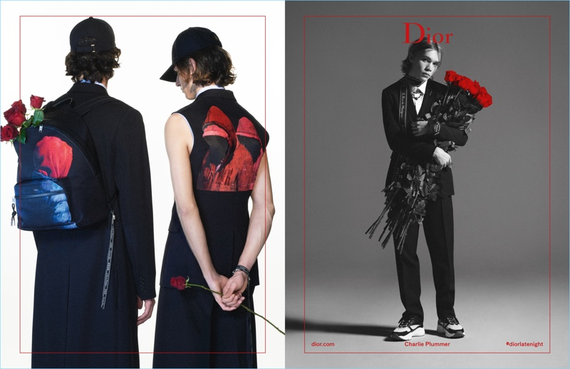Models and Charlie Plummer appear in Dior Homme's spring-summer 2018 campaign.