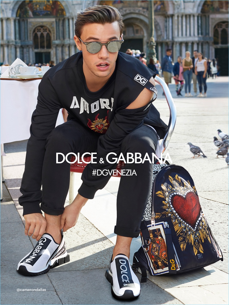 40be6e757d0 Cameron Dallas rocks sunglasses for Dolce   Gabbana s spring-summer 2018 eyewear  campaign.