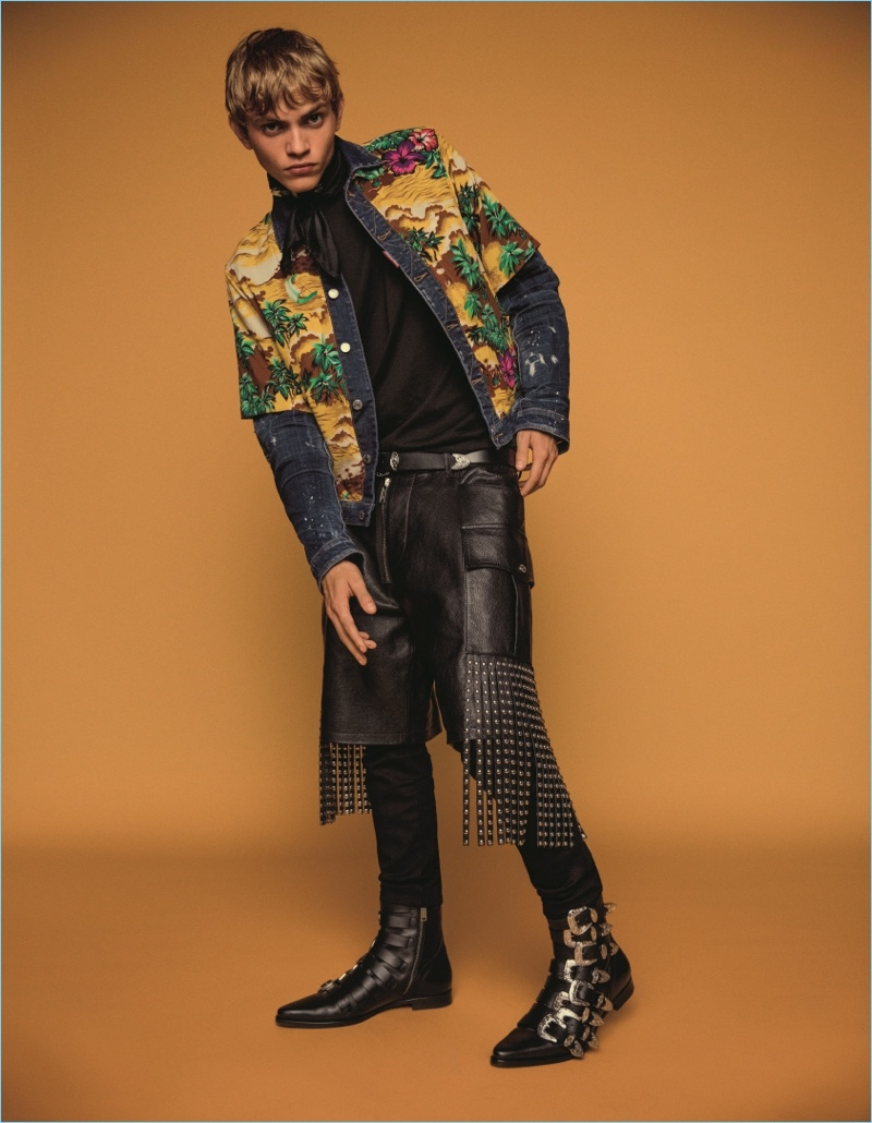 Jose Lucero appears in Dsquared2's spring-summer 2018 campaign.