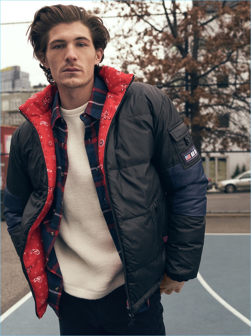 Opening Ceremony updates the puffer jacket with a pop of print. The jacket looks great with a Stüssy flannel shirt, Our Legacy sweater, and A.P.C. corduroy pants.